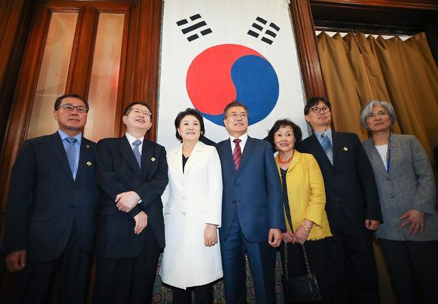 文在寅到访大韩帝国驻美公使馆