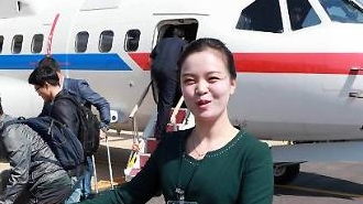 [포토] 북한안내원 수줍은 미소