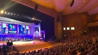 """김동연, """"현명한 자는 다리를 만들고, 어리석은 자는 벽을 만든다""""...부산 벡스코 AfDB 연차총회 개최"""