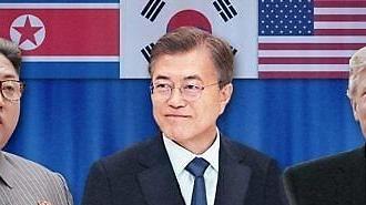 북미 비핵화 힘겨루기 본격화...'중재' 위한 남북정상핫라인 가동 임박
