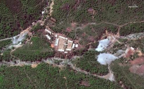 朝鲜炸毁坑道拆除核试验场