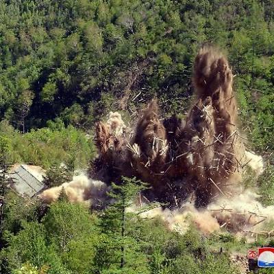 폭파되는 풍계리 핵실험장