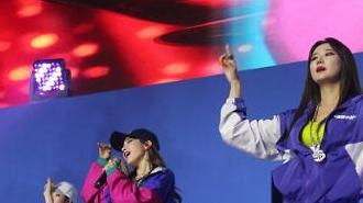 [포토] IBK투자증권 10주년 기념식에서 축하공연 하는 EXID