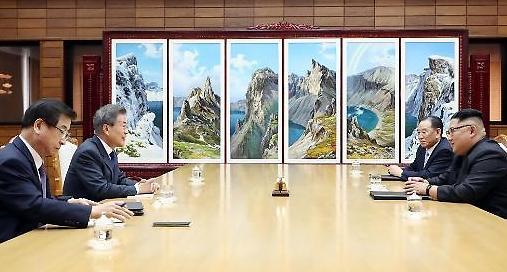 [영상] 文대통령-김정은, '깜짝' 정상회담