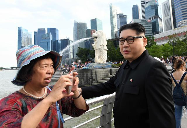 """""""金正恩""""提前亮相新加坡:特朗普 我已准备好了!"""