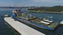 大宇造船海洋、3兆ウォン規模の陸上原油生産プラントの初モジュール出港