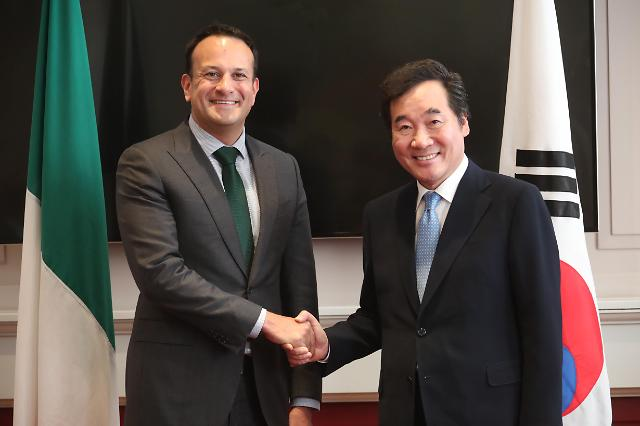 韩总理会晤爱尔兰总统