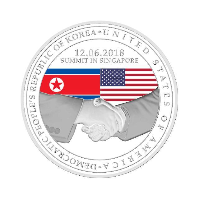 新加坡造币厂发行3款朝美首脑会谈纪念币
