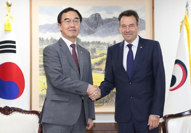 韩统一部长官会见红十字会国际委员会主席