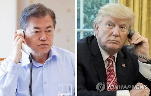 金特会前夕韩美总统通电话谈无核化