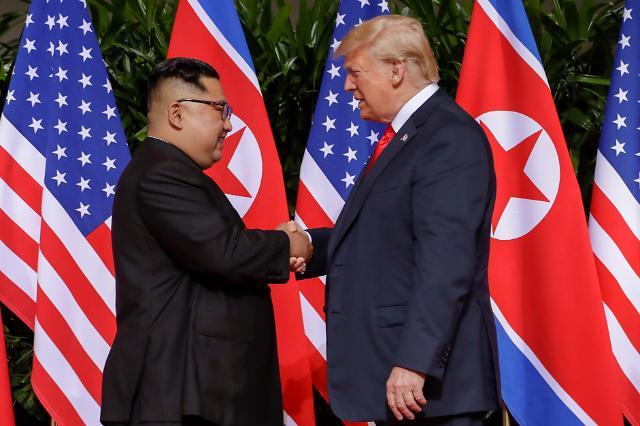 金正恩用英语与特朗普问候:很高兴见到你,总统先生!