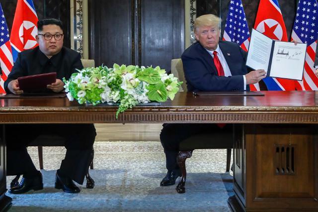 朝美领导人签署联合公报