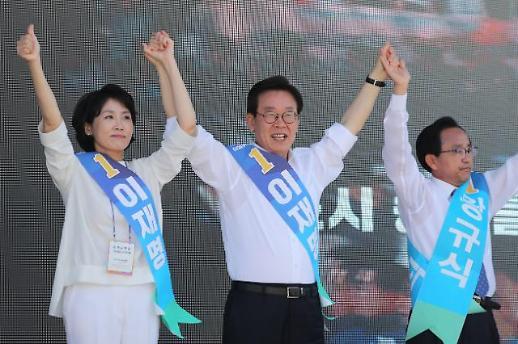 """이재명 """"유권자 집단지성 믿어"""" 남경필 """"진실·정직이 승리"""""""