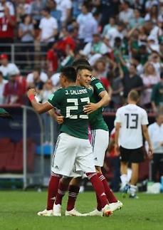 [월드컵] 전차군단 독일, 멈췄다…멕시코 1-0 승리 최대 이변