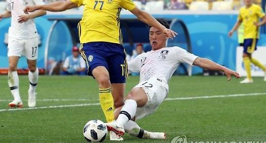 통한의 비디오판독... 스웨덴에 0-1 석패