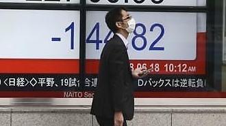 미중 무역전쟁에 금융시장 요동..日닛케이 1.8%↓