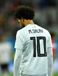 [월드컵] '이집트 왕자' 살라, 러시아 돌풍에 밀린 씁쓸한 데뷔전