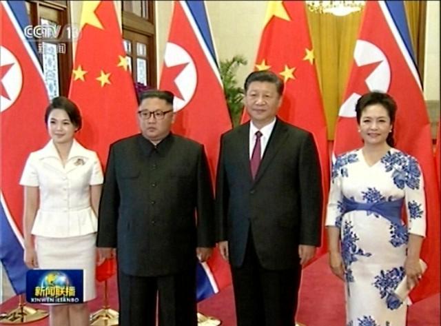 习近平金正恩在北京举行会谈