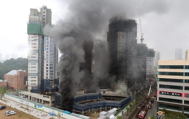 世宗市一建筑工地发生火灾 27人受伤