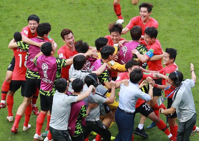 韩国队赢了 韩德战精彩瞬间回顾