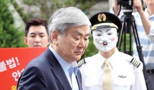 韩进集团会长赵亮镐涉嫌逃税今日到案受讯