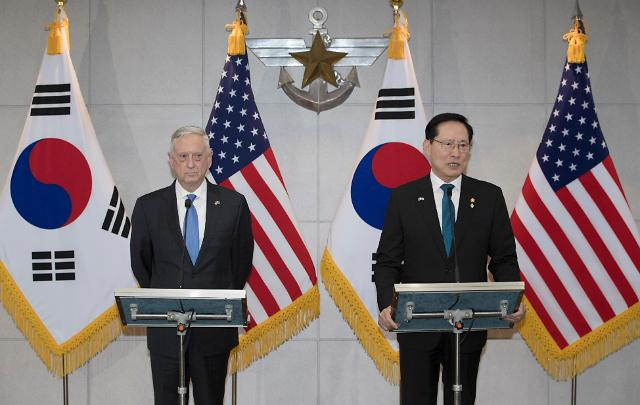 韩美防长:寻求方法实现半岛和平 驻韩美军规模保持不变