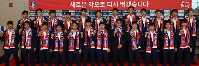 韩国国足回国