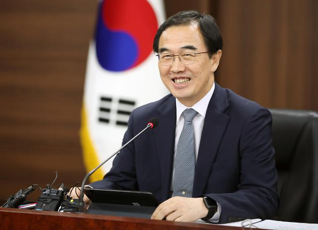 韩统一部长官:争取今秋文金会促进半岛和平繁荣
