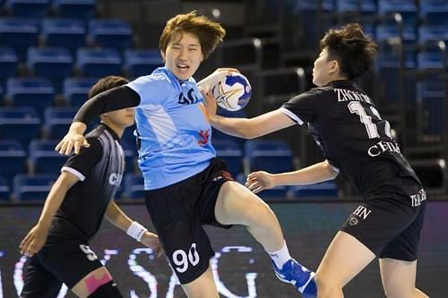 世青女子手球锦标赛韩国击败中国获首胜