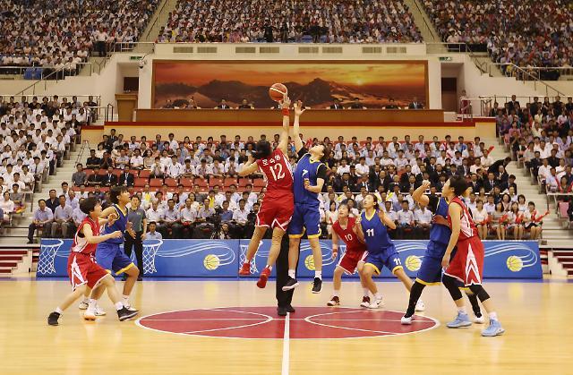韩朝统一篮球赛进入第二个比赛日