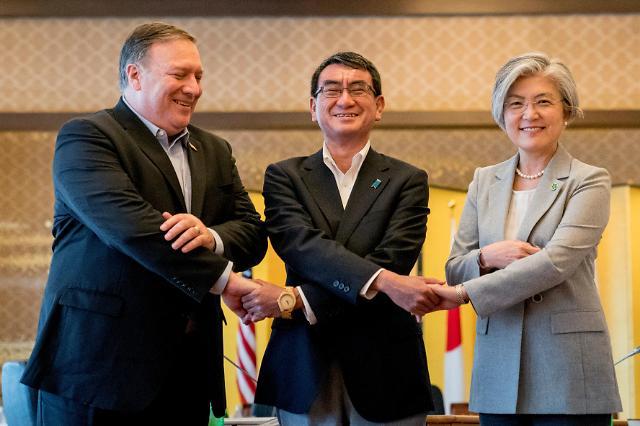 韩美日外长东京会晤 重申CVID无核化目标