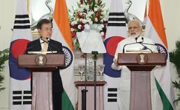 .文在寅与莫迪举行首脑会谈 签署韩印蓝图声明.