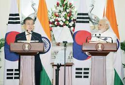 .Leaders of S. Korea and India agree to strengthen economic ties.