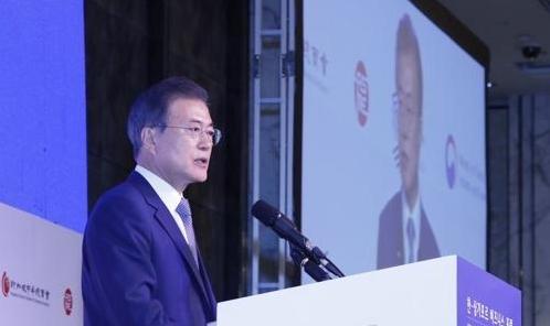 文在寅出席韩国新加坡商务论坛