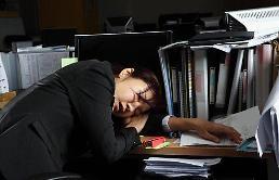 """.""""过度疲劳""""的韩国社会 周工作时间为日本1.6倍."""