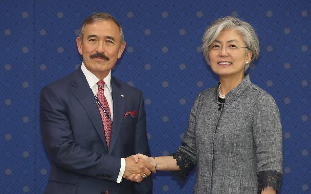 韩外长与新任美国驻韩大使哈里斯会晤
