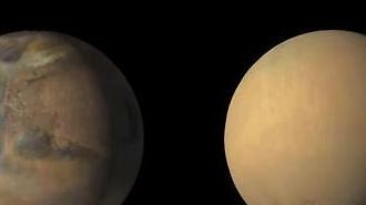 [포토] 화성 모래폭풍의 위력