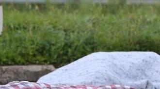 [포토] 폭염으로 노숙자 신세?