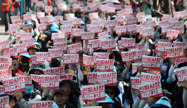北매체 南 경제위기와 민생파탄으로 대규모 반정부 시위
