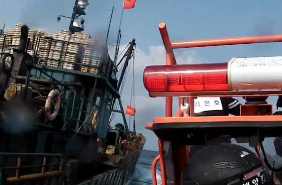 今年上半年在韩非法捕捞中国渔船同比减半