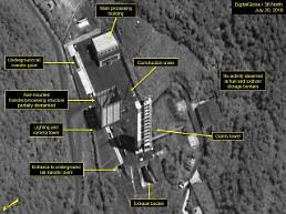 .无核化新进展 朝鲜疑似拆除西海卫星发射场重型吊车.