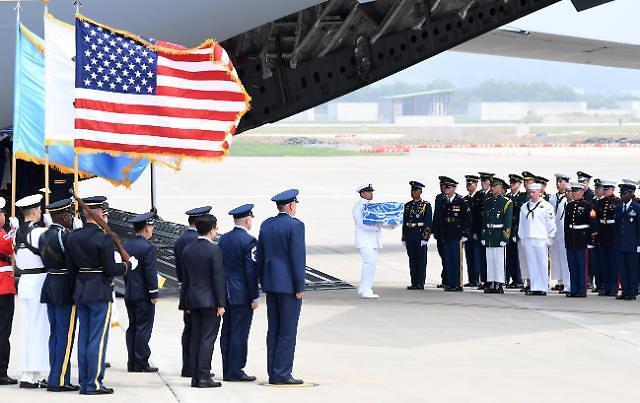 朝鲜送还美军遗骸 或助两国建立互信