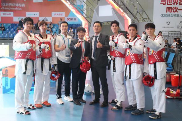 世界跆拳道团体世界杯锦标赛韩国男队摘金