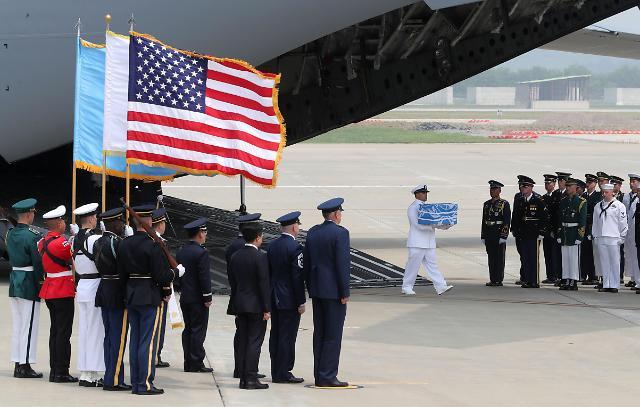 美国务院:朝鲜未要求支付送还美军遗骸费用