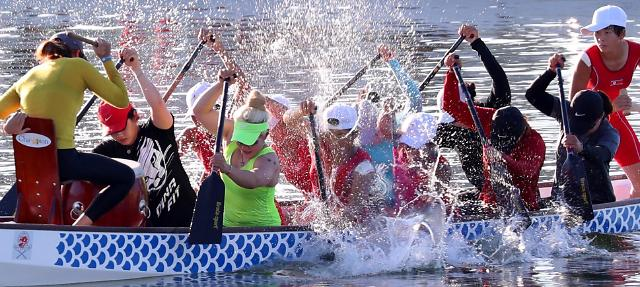 韩朝皮划艇联队刻苦备战2018雅加达亚运会