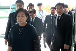 .Hyundai chairwoman visits N. Korean resort for husbands memorial service.