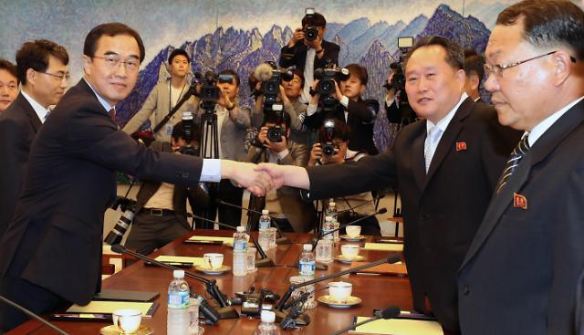 韩朝13日举行高级别会谈 将讨论文金会筹备事宜