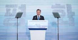 .President Moon proposes Northeast Asia railway community.