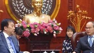 Chủ tịch tập đoàn SM Group Hàn Quốc Ông Woo Oh-huyn gặp gỡ Bí thư Nguyễn Thiện Nhân