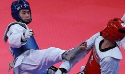.亚运男子跆拳道58公斤级韩国金泰勋夺金.